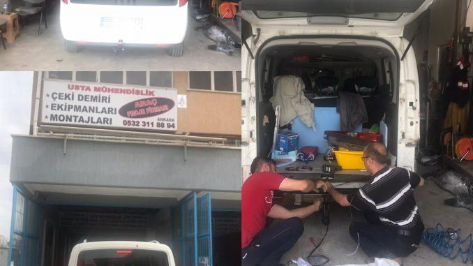 ◾ÇEKİ DEMİRİ ANKARA ↵ Kancası topuzu İLAVESİ + 7 pinli 13 pinli priz elektrik sistemi montajı ve araç proje
